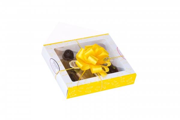 Geschenkverpackung 9 Stück gelb/weiß mit Schmetterlingen