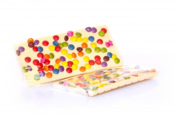 Weiße Schokolade mit Smarties