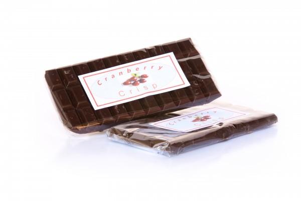 Dark Cranberry Crisp Schokolade
